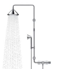 The minimalism of plumbing Inspired by plumbing pipes, the Axor Shower Products, designed by Swedish firm Front, accompanied by an installa. Bathroom Hardware, Bathroom Fixtures, Bathrooms, Bath And Beyond, Bathroom Trends, Plumbing Fixtures, Shower Faucet, Front Design, Wardrobe Rack