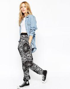 ASOS Harem Trousers in Bandana Print