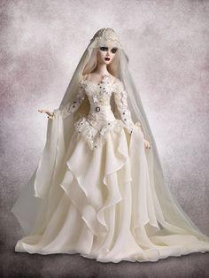 "Evangeline says ""One More Time..."" - do they finally get married? #EvangelineGhastly #TonnerDolls #TonnerDoll #FashionDolls #Wedding #Bride #Groom #WeddingFashion #DollWeddingFashion"