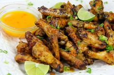 Caribbean style Buffalo Wings. My take on the mango habanero wings at Buffalo Wild Wings. CLICK for the recipe - with video