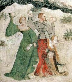 Detail from a fresco in Buonconsiglio Castle, c. 1405-1410.