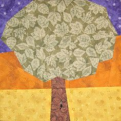 Tree at Sunset Quilt Block | FaveQuilts.com