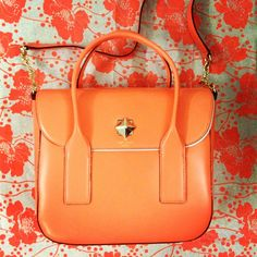 Orange alert! @katespadeny - Florence Broadhurst bag - (via refinery29)