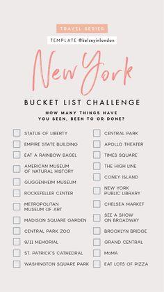 Ny bucket list new york trip, new york city travel, tour new york, Travel Checklist, Travel List, Travel Goals, Solo Travel, Usa Travel, Travel Luggage, Travel Essentials, Travel Style, New York Trip