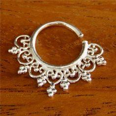 Septum Ring - Septum Jewelry - Septum Piercing - Septum Cuff - Indian Nose Ring - Indian Septum Ring - For Pierced Nose (Code: S12)