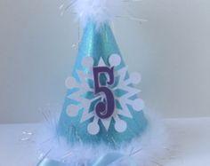 Frozen theme Birthday Hat, Elsa, Ana, Olaf