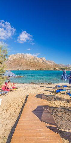 Run to the beach! Stavros in Chania, Crete, Greece