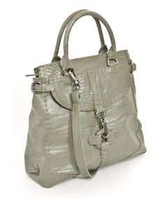 Jade Python Shoulder Bag  by Carla Mancini on Zulily today!