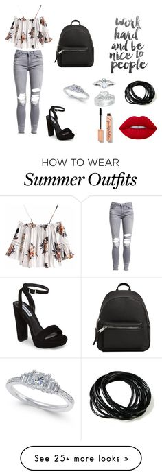 """Great Summer Look Outfit"" by mionadervisevic on Polyvore featuring AMIRI, Steve Madden, MANGO and Lime Crime"