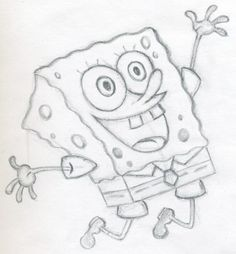 Would like to know how to draw Spongebob square pants? Drawing any animation characters is a perfect lesson and spongebob is simply among such instances. Spongebob Easy Drawing, Spongebob Painting, Spongebob Cartoon, Spongebob Drawings, How To Draw Spongebob, Spongebob Pants, Funny Sketches, Easy Drawings Sketches, Easy Cartoon Drawings