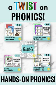 """Digraph Activities - Looking for something new to catch student attention? Maybe you're working with student who as been taught digraphs, but it hasn't """"stuck"""" yet. These digraph phonics centers are just the """"twist"""" your students need! Humorous for both motivation AND retention. There are games, centers, visual supports, printables, and MORE! #digraphs #phonics"""