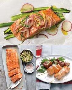 salmon spinach and potatoes baked in parchment salmon spinach and ...