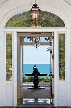 The Enchanted Home: Beach house chic   These are the door, transom and side lights for our home!!