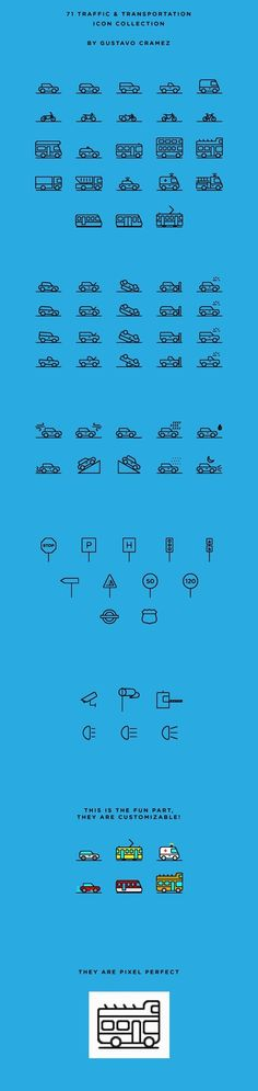 71 Traffic & Transportation Icon Collection | Free on Behance in Icons, Symbols & Pictograms