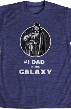 #1 Dad in the Galaxy Star Wars T-Shirt: 80s Movies: Star Wars Shirts