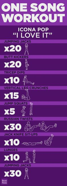 5 One-Song Workouts via BuzzFeed » This song always makes me dance around, I will have to try these exercises next time! :) #fitnessworkouts