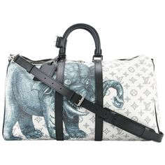 Preowned Louis Vuitton New Limited Edition Men's Travel Weekend... (€6.710) ❤ liked on Polyvore featuring men's fashion, men's bags, grey, mens weekender bag, louis vuitton mens bag, men's duffel bags, mens duffle bags and mens overnight bag