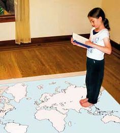 Girl walking on a map of the continents, reading a book. Girl walking on a map of the continents, reading a book. Girl walking on a map of the continents, reading a book. Geography For Kids, Maps For Kids, Teaching Geography, World Geography, Geography Activities, Social Studies Resources, Teaching Social Studies, Ecole Bilingue, Classroom Map