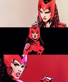 Scarlet Witch (Wanda Maximoff) in Uncanny Avengers Marvel Comic Universe, Marvel Comics Art, Marvel Heroes, Marvel Cinematic Universe, Marvel Avengers, Uncanny Avengers, Marvel Women, Marvel Girls, Comics Girls