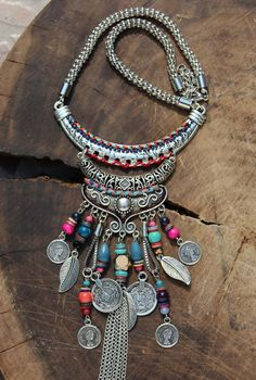 Boho Coin & Beaded Necklace! We adore this! Free shipping! #boho
