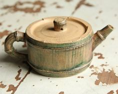 Small Bamboo Teapot – Yixing Chinese Individual Teapot - All About Bamboo Art, Bamboo Crafts, Wood Crafts, Diy And Crafts, Bamboo Table, Bamboo Design, Wood Design, Yixing Teapot, Bamboo Architecture
