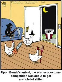 Halloween Quotes : Halloween Funnies Costume Party I just love chicken jokes my favorite topic Halloween Meme, Halloween Cartoons, Chicken Halloween, Halloween Witches, Couple Halloween, Halloween 2019, Halloween Party, Haha Funny, Funny Memes