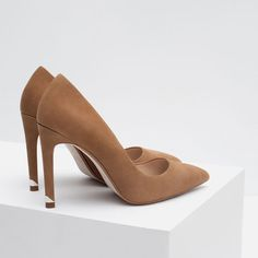 LEATHER HIGH HEEL SHOES from Zara