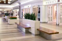 Public Seating at Fairview Mall in Toronto, ON - designed by GH+A