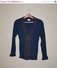 On S A L E... Vintage Men's Cardigan Sweater by founditinatlanta