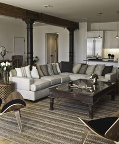 Contemporary, Modern Living Room | Marie Burgos Design | Dering Hall Design Connect In partnership with Elle Decor, House Beautiful and Veranda.