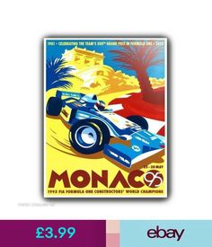 Poster for the 1995 Monaco Grand Prix Retro Poster, Vintage Posters, Vintage Prints, Monaco Grand Prix, Car Posters, Event Posters, Travel Posters, Kunst Poster, Automotive Art