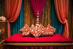 The Mehndi, Sangeet & Holud Stage - Sarah Khan Event Styling