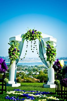 Kate Sessions Park wedding in San Diego overlooking Mission Bay.