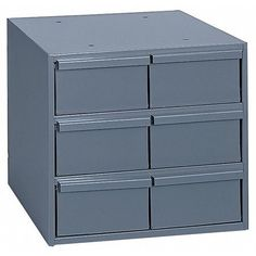 Drawer Bin Cabinet,  ESD Conductive No,  No. of Drawers 6,  Drawer Depth 11 1/4 in,  Drawer Width 5 3/8 in,  Drawer Height 2 3/4 in,  Depth of Cabinet 11 1/2 in,  Width of Cabinet 11 3/4 in,  Height of Cabinet 10 3/4 in,  Material - Cabinets Steel,  Drawer Color Gray,  Cabinet Color Gray,  Drawer Material Steel,  Number of Removable Dividers 2,  Finish - Cabinets Powder Coated,  Includes (2) Dividers Per Drawer Vertical Storage, Cold Rolled, Grey Cabinets, Cabinet Colors, Storage Drawers, Durham, Walmart Shopping, Gray Color, Steel