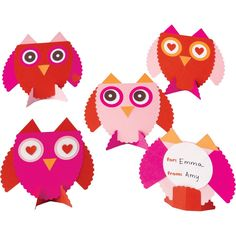 Owls Valentine Card Kit--Paper Source