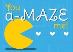 Pac-Man Valentine - Video Game Heart Containers: Printable Video Game Valentine's Day Cards