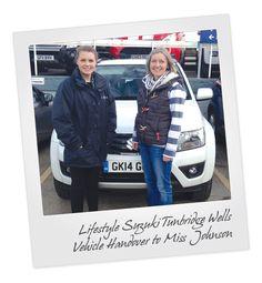 Suzuki Grand Vitara Vehicle Handover at Tunbridge Wells Suzuki in Kent