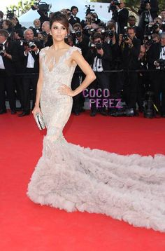 Eva Longoria Shuts It Down At The Cannes Film Festival! Def one of my fave & fashion idols.