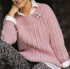 Vintage Knitting Pattern Instructions to Make Ladies Cable Jumper