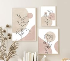 Mini Canvas Art, Diy Canvas, Botanical Wall Art, Botanical Prints, Minimalist Art, Diy Painting, Diy Art, Printable Wall Art, Art Drawings