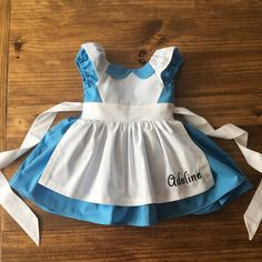 Alice in Wonderland Dress - Alice Dress - Alice in Wonderland - Queen of Hearts - White Rabbit - Alice in Wonderland Costume Alice In Wonderland Tea Party Birthday, Alice In Wonderland Costume, White Queen Costume, Disney Princess Dresses, Queen Dress, First Birthday Outfits, Girl Costumes, Amelie, Cute Dresses