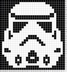 Bilderesultat for minions amigurumi patron espa Star Wars Crochet, Pixel Crochet, Crochet Stars, Crochet Granny, Crochet Bebe, Hama Beads Patterns, Loom Patterns, Beading Patterns, Embroidery Patterns