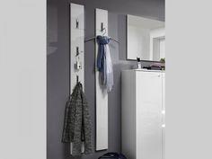 Germania, Inside, Modern Coat Rack Panel in High Gloss White