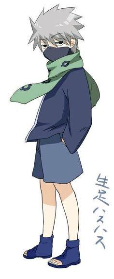 Kakashi Hatake from Naruto Kakashi Sharingan, Naruto Uzumaki, Anime Naruto, Kid Kakashi, Anime Echii, Naruto Fan Art, Kakashi Sensei, Naruto Cute, Chica Anime Manga