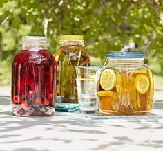 A refreshing treat that's easy to make: Fill a 64-ounce glass jar—be sure it's thoroughly washed—with 6 to 8 cups of water. Then,with clean hands, add tea and prewashed fruit or herbs. Cover loosely with a breathable cloth, place in direct sunlight, and steep for three hours. Stir in sugar or honey to taste, and serve over ice. Teas can be kept in the refrigerator for up to one week.