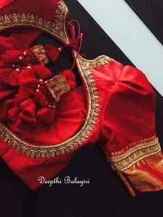Work on the latest mill designs blouses stunning silk saris kanjivaram 2020 Fur Bridal, Wedding blauss, silk saree blouse designs 2020 Wedding Saree Blouse Designs, Pattu Saree Blouse Designs, Simple Blouse Designs, Designer Blouse Patterns, Fancy Blouse Designs, Wedding Blouses, Blouse Designs Embroidery, Indian Blouse Designs, Indian Embroidery