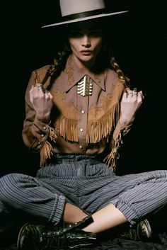 Allie Crandell Sports Rustically Refined Jewelry in The 2 Bandits Lookbook #fashion #ideas trendhunter.com
