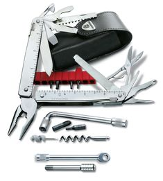 Victorinox Swiss Army SwissTool CS Plus Multi-Tool, Steel : Multitools : Sports & Outdoors, Survival & Bushcraft Best Multi Tool, Victorinox Swiss Army Knife, Best Pocket Knife, Pocket Knives, Belt Pouch, Cold Steel, Survival Knife, Everyday Carry, Tactical Gear