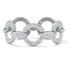 @Overstock - You'll be making a statement, turning heads, and impressing everyone with this stunning cubic zirconia bracelet encrusted with 265 round pave-set stones in silver-tone overlay. A truly dazzling piece of jewelry to wear anytime or to give as a gift.http://www.overstock.com/Jewelry-Watches/Ultimate-CZ-Silver-Overlay-Cubic-Zirconia-Link-Bracelet/5233690/product.html?CID=214117 CAD              82.66