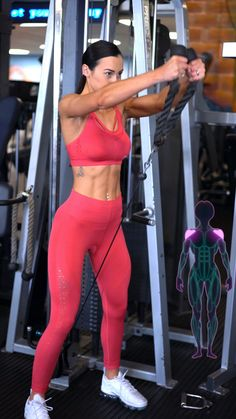 Cable Workout, Gym Workout Videos, Gym Workout For Beginners, Gym Workouts, Gym Shoulder Workout, Shoulder Gym, Sport Fitness, Workout Challenge, Fit Women